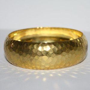 Beautiful vintage gold hammered bangle bracelet